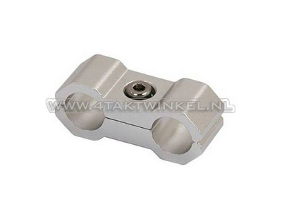 Kabelklemme, 6 mm, Aluminium, Silber