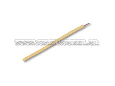 Litze pro Meter 0,75 mm², gelb