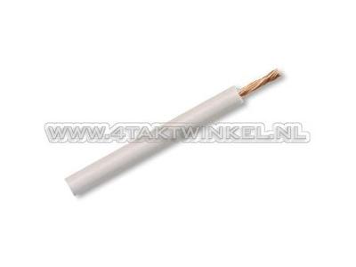 Litze pro Meter 0,75 mm², weiß