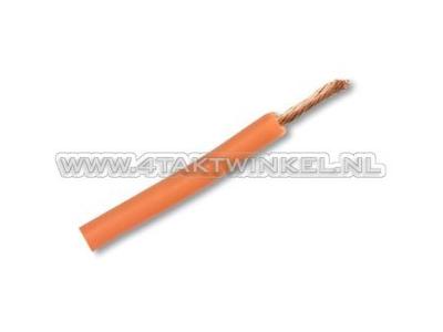 Litze pro Meter 0,75 mm², orange