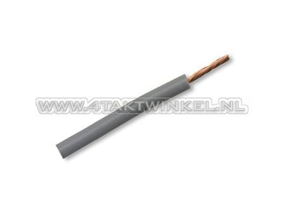 Litze pro Meter 0,75 mm², grau