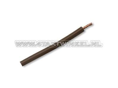 Litze pro Meter 0,75 mm², braun