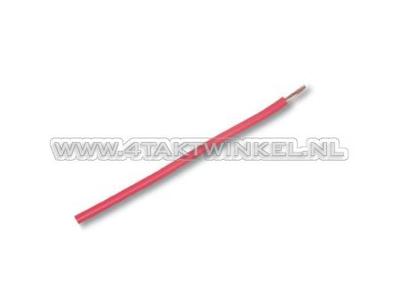 Litze pro Meter 0,75 mm², rot