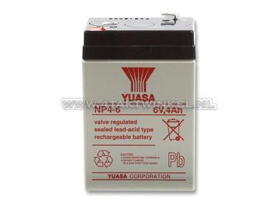 Batterie 6 Volt 4 Ampere, SS50, Dax, Gel, Universal, Yuasa