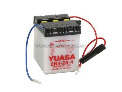 Batterie 6 Volt 4 Ampere, C50, CB50, Bleibatterie, Yuasa