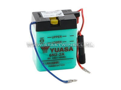 Batterie 6 Volt 2 Ampere, Dax, SS50, Bleibatterie, Yuasa
