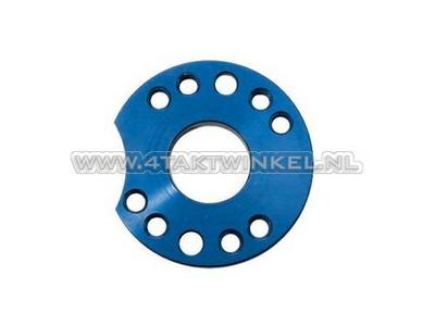 Einstellplatte für Vergaser Aluminium, blau