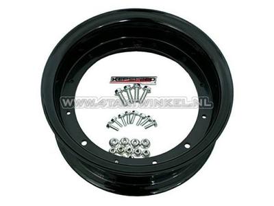 Felge Dax 10 Zoll Aluminium, Standardoptik, 3.50, Kepspeed, schwarz
