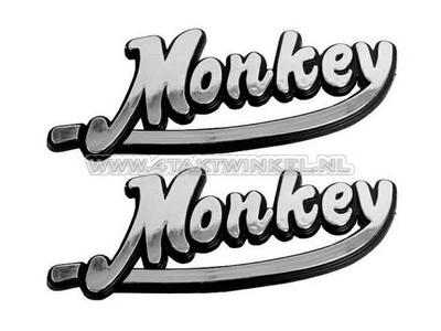 Emblem Monkey, Set, Silber