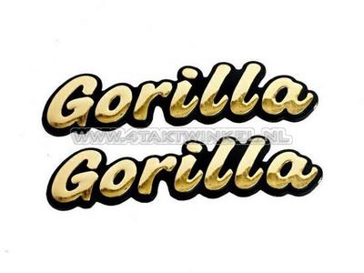 Emblem Gorilla, Set, Gold