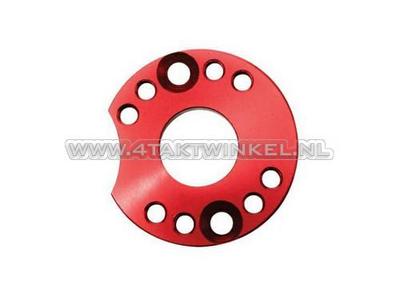 Einstellplatte für Vergaser Aluminium, rot