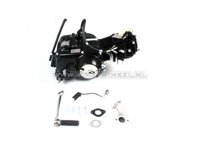 Motor, 70 ccm, manuelle Kupplung, Lifan, 4-Gang, schwarz