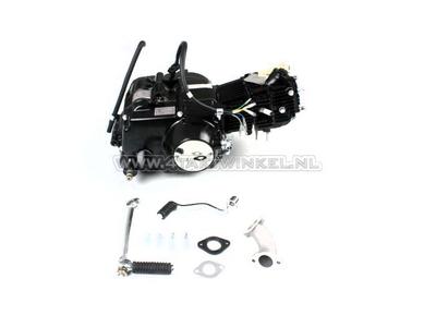 Motor, 50 ccm, manuelle Kupplung, Lifan, 4-Gang, schwarz