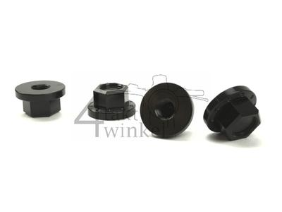 Hutmutter-Satz, M10 x 1,25, CNC, schwarz