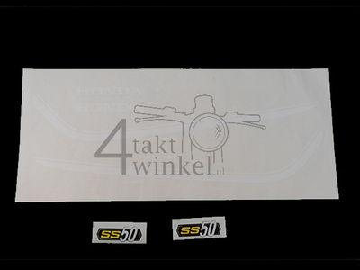 Aufkleber SS50 Tank Linien k1 weiß, Rahmen, set