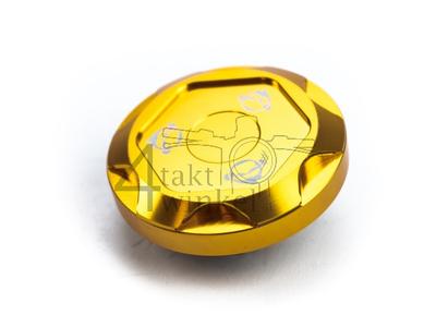 Tankdeckel Monkey, CNC Aluminium, type 2, Gold